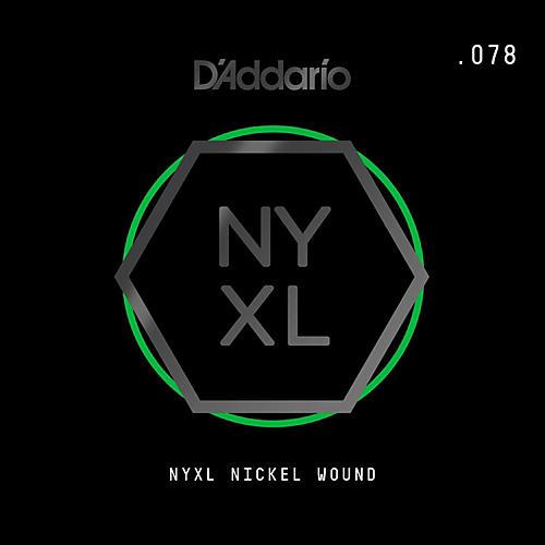 D'Addario NYNW078 NYXL Nickel Wound Electric Guitar Single String, .078-thumbnail