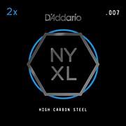 D'Addario NYPL007 Plain Steel Guitar Strings 2-Pack, .007