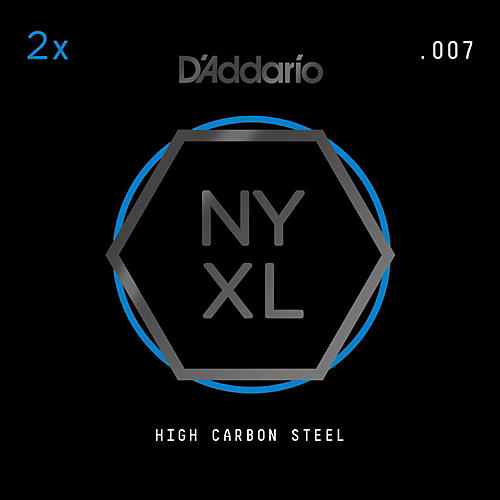 D'Addario NYPL007 Plain Steel Guitar Strings 2-Pack, .007-thumbnail