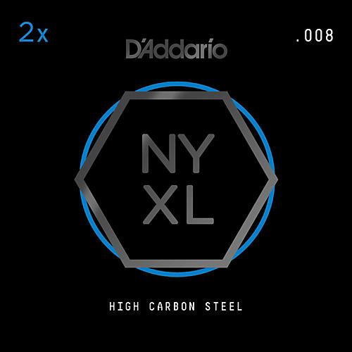 D'Addario NYPL008 Plain Steel Guitar Strings 2-Pack, .008-thumbnail