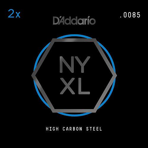 D'Addario NYPL0085 Plain Steel Guitar Strings 2-Pack, .0085-thumbnail