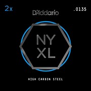 D'Addario NYPL0135 Plain Steel Guitar Strings 2-Pack, .0135