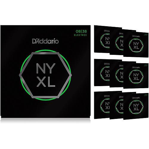 D'Addario NYXL0838 Extra Super Light 10-Pack Electric Guitar Strings-thumbnail
