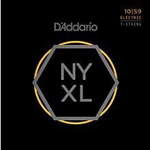 D'Addario NYXL1059 7-String Light Nickel Wound Electric Guitar Strings (10-59)