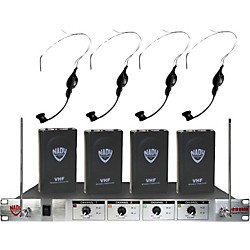 Nady 401X Quad HM-1 Headset Wireless System (14910-50)