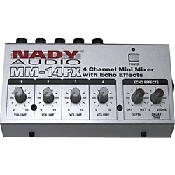 Nady MM-14FX Mini Line Mixer with Effects (10220-58)