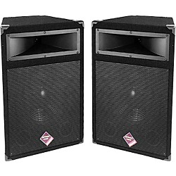 "Nady PTS515 12"" 400W 2-Way Trapezoid Speaker Pair (KIT773280)"