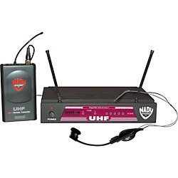 Nady UHF-4 LT/HM-1 (115) Headset Wireless System (6017-55)