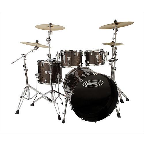 Orange County Drum & Percussion Newport 4-Piece Shell Pack Black Gold Glitter