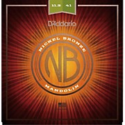 D'Addario Nickel Bronze Mandolin Strings, Med-Hvy, 11.5-41