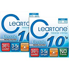 Cleartone Nickel-Plated Light Gauge Treated Electric Guitar Strings (2-Pack)