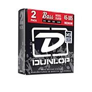 Dunlop Nickel Plated Steel Bass Strings - Medium 2-Pack