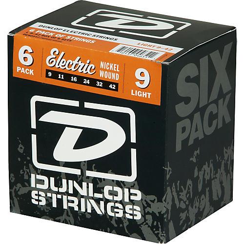 Dunlop Nickel Plated Steel Electric Guitar Strings Light 6-Pack-thumbnail