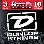 Dunlop Nickel Plated Steel Electric Guitar Strings Medium 3-Pack