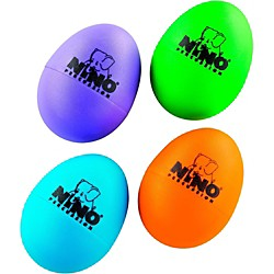 Nino Plastic Egg Shaker 4 Piece Assortment (NINOSET540-2)