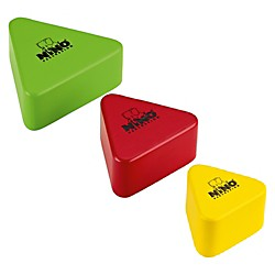 Nino Wood Shakers Triangular 3 Piece Set (NINO508-MC)