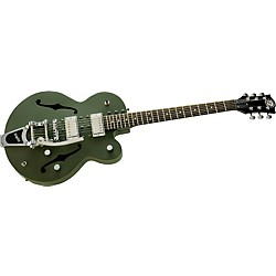 Normandy Army Green Powdercoat Archtop Guitar with Bigsby Vibrato Tailpiece (ATGWB-AG)