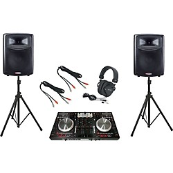Numark NS6 / Harbinger APS15 DJ Package (NS6APS15)