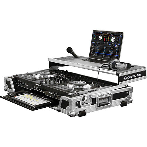 Odyssey Numark NS7II DJ Controller Glide Style Case With Lower Glide Tray-thumbnail