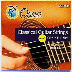 Oasis GPX+ Classical Guitar High Tension GPX Carbon Trebles/Medium Tension Sostenuto Basses (GX-1000M)