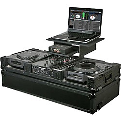 Odyssey ATA Black Label Coffin for Laptop, Two CD Players, and DJ Mixer (FZGS10CDJWBL)