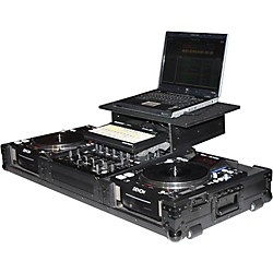 Odyssey ATA Black Label Coffin for Laptop, Two CD Players, and Mixer (FZGS12CDJWBL)