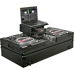 Odyssey ATA Black Label Coffin for Two Turntables and Mixer (FZGSBM10WBL)