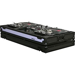 "Odyssey FFXBM10WBL DJ Coffin For Two Turntables and 10"" Wide Mixer (USED004000 FFXBM10WBL)"