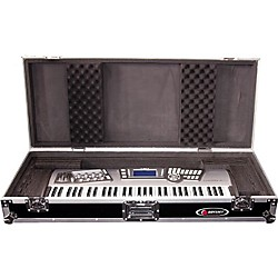 Odyssey Flight Zone: Keyboard case for 61 note keyboards with wheels (FZKB61W)