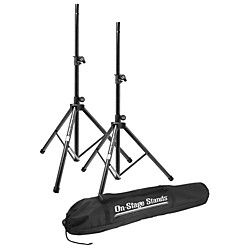 On-Stage Stands All-Aluminum Speaker Stand Pak With Draw String Bag (SSP7900)