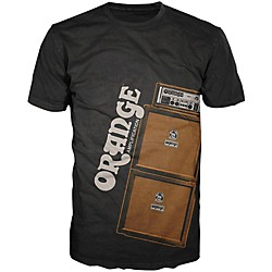 Orange Amplifiers Men's Stack T-Shirt (MC-T-SHIRT-STACK-BLK-M)
