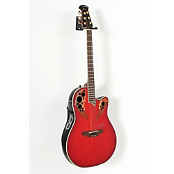 Ovation iDea Celebrity Acoustic-Electric Guitar with Built-In MP3 Recorder (USED005006 CC44SI-CCB)