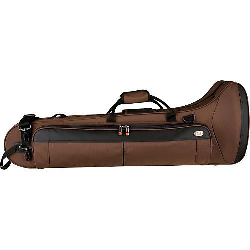 Protec PB306CTCH Contoured Straight/F Attachment Tenor Trombone PRO PAC Case PB306CTCH Chocolate-thumbnail