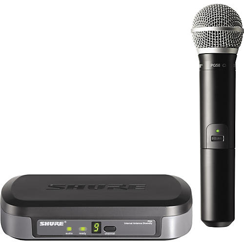 Shure PG24/PG58 Performance Gear Wireless Handheld Microphone System