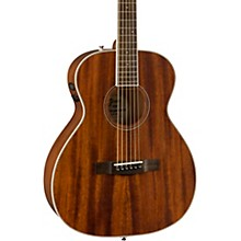 Fender PM-TE Travel All-Mahogany Acoustic-Electric Guitar