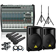 Behringer PMP6000 B215XL Powered Mixer Mains and Mics Package