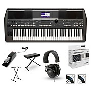 Yamaha PSRS670 with M80 MkII, Bench, Stand & Sustain Pedal