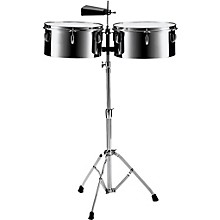 Pearl PTS5134 13 in. and 14 in. Steel Timbales with Cowbell and Stand