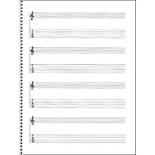 Music Sales Passantino Guitar Manuscript Paper Spiral pad #159 - 4 Staves, 64 Pgs, 9X12
