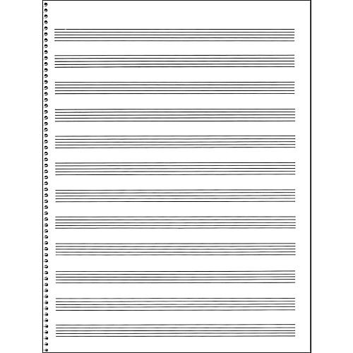Music Sales Passantino Manuscript Paper #65 12 Stave, 32 Page, Spiral, 9X12-thumbnail