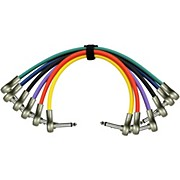 "KIRLIN Patch Cable 6 Color Pack - 'Pancake' 1/4"" Right Angle - 1/4"" Right Angle"