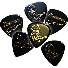 Ibanez Paul Gilbert Black Signature Picks 6-Pack