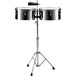 "Pearl PTS5134 13"" and 14"" Steel Timbales with Cowbell and Stand (PTS5134)"