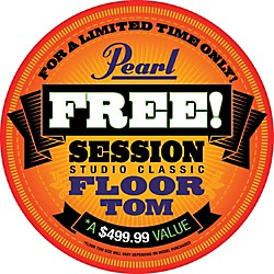 Pearl Session Studio Classic 4-Piece Shell Pack with Free 16-Inch Floor Tom (SSC904XUP/C151-KIT)
