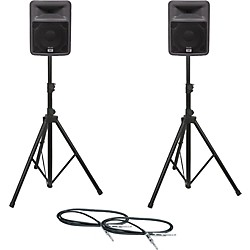 Peavey PR 10 Speaker Pair with Stands and Cables (PR10PAIRWSTD-KIT)