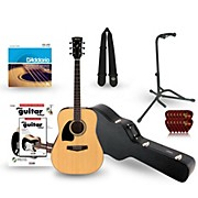 Ibanez Performance Series PF15 Left Handed Dreadnought Acoustic Guitar Deluxe Bundle