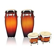 LP Performer Series 2-Piece Conga and Bongo Set with Chrome Hardware