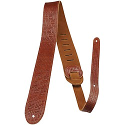 "Perri's 2"" Deluxe Leather Guitar Strap with Suede Back (P20ETX-1971)"