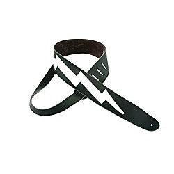 "Perri's 2.5"" Italian Leather Guitar Strap With Lightning Bolt (P25DLXLB-218)"