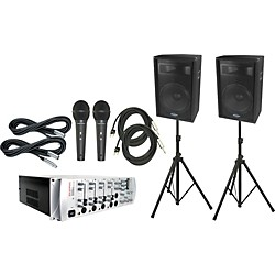 Phonic KA720 Powered Karaoke Mixer / S715 Package (KIT791171)